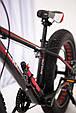 """Fat Bike Горный Велосипеды  S800 HAMMER EXTRIME"""" Колёса 24''х4,0. Алюминиевая рама 14'' Япония Shimano. Черно-Красный, фото 10"""