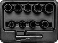 Набор экстракторов для выворачивания сломанных болтов 10 шт. Yato YT-0603