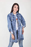 Женская джинсовая куртка большого размера, фото 1