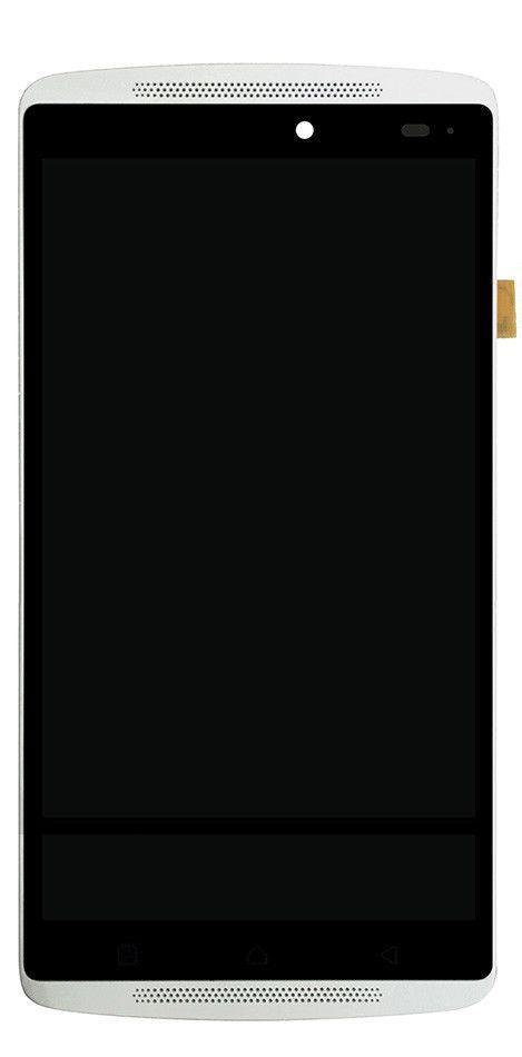 Дисплей (экран) для телефона Lenovo A7010 Vibe K4 Note A7010a48, Vibe X3 Lite K51c78 + Touchscreen with frame (original) White