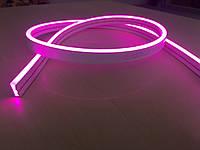 Мини Лед Неон Гибкий 12V Розовый 13*5мм IP68, фото 1