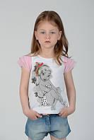 Детская футболка для девочки De Salitto Италия 95521-Q Белый
