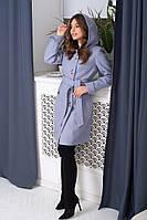 Женское кашемировое пальто с капюшоном от 42 до 48 размера