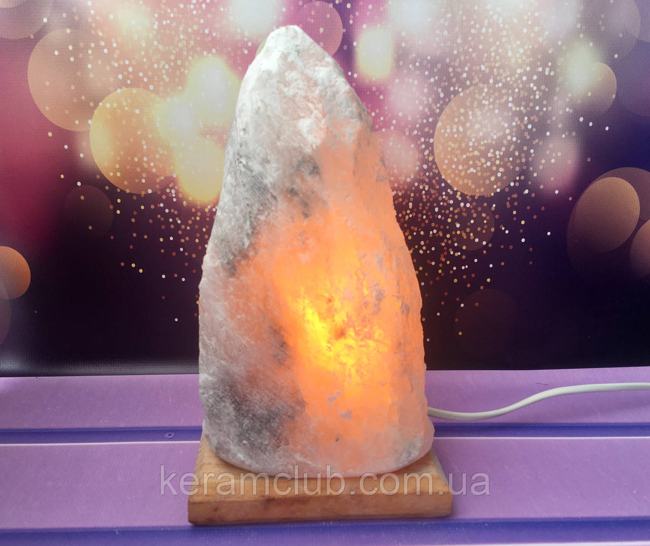 Соляной светильник Скала средняя 10*18 см