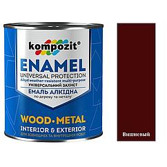 Алкидная эмаль для дерева и металла ПФ-115 Kompozit 0,9кг (Вишневый) (Композит)