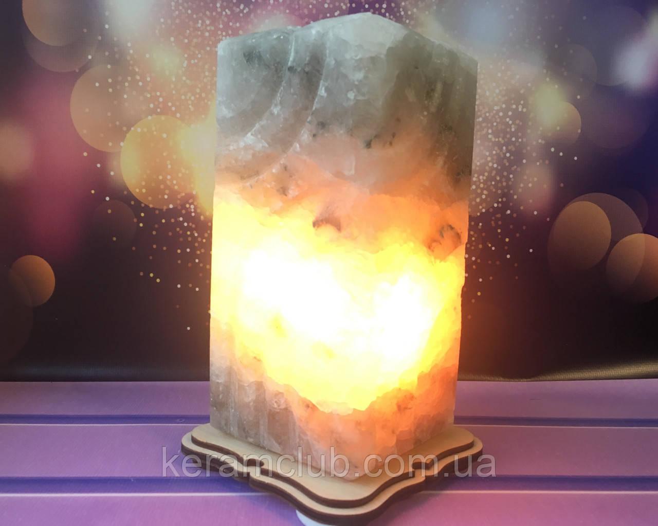 Соляная лампа Прямоугольник резной 18*9*9 см