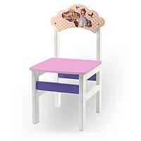 Детский стульчик белый Принцесса София, фото 1