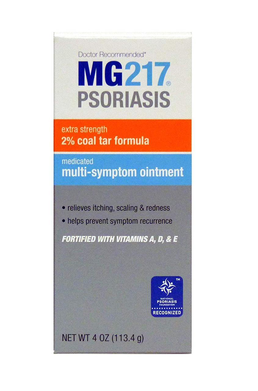 Лечебная Мазь из Дегтя для Лечения Псориаза, MG217 Medicated Tar Ointment, 113.4 грамм