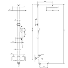 Душевая система из нержавеющей стали Imperial (1005) 33-1005, фото 2