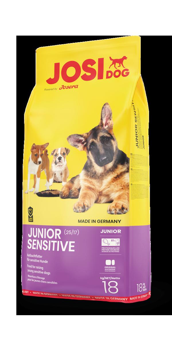 Сухой корм JosiDog Junior Sensitive для щенков с чувствительным пищеварением 18 кг