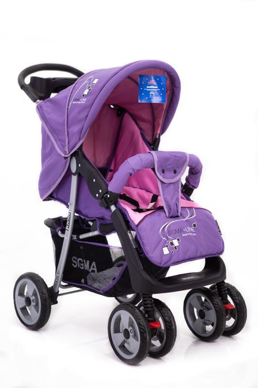 Детская прогулочная коляска книжка  Sigma K-038F фиолетовая