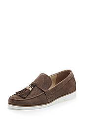 Лоферы женские коричневые замшевые (01203)