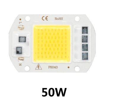Светодиод LED Мощность 50Вт Вольтаж 220V  Размер 60х40мм с драйвером теплый белый