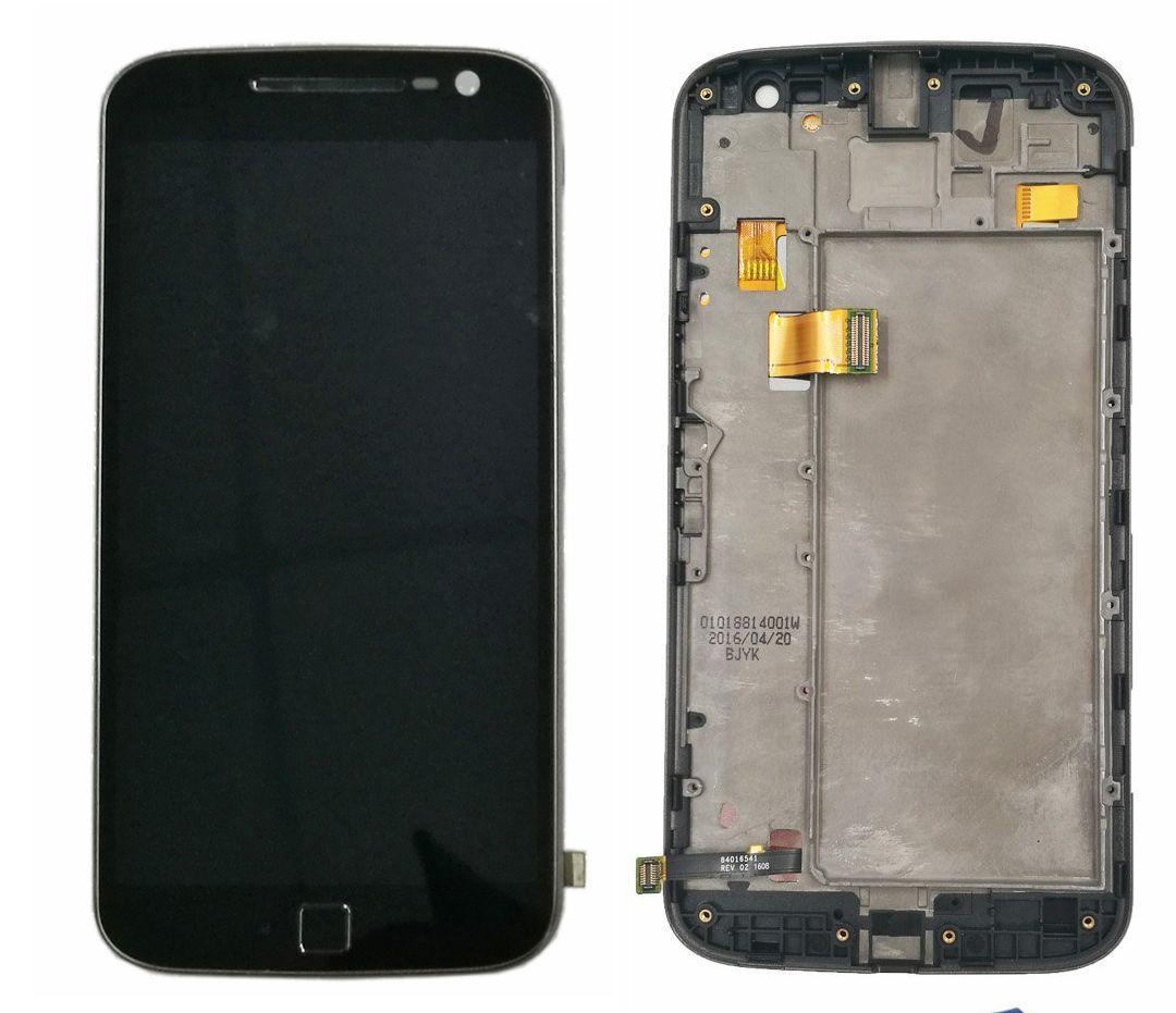 Дисплей (экран) для телефона Motorola Moto G4 Plus (XT1641, XT1642, XT1644) + Touchscreen with frame (copy) Black