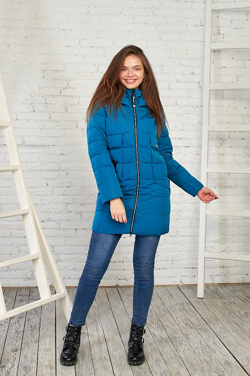 Женская демисезонная куртка синего цвета, 27314 от Black&Red