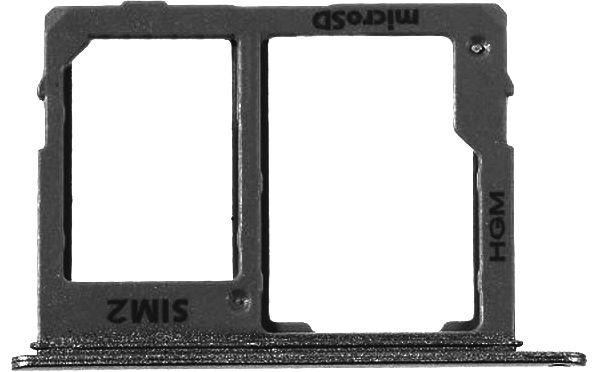 Держатель (лоток) SIM-карты Samsung A600F Dual Galaxy A6 (2018) SIM2 Black