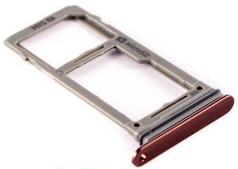 Держатель (лоток) SIM-карты Samsung N960 Galaxy Note 9 1SIM Metallic Copper