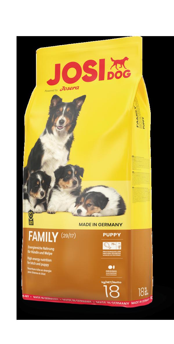 Сухой корм для щенков и юниоров, для беременных и кормящих собак Josera JosiDog Family 18 кг