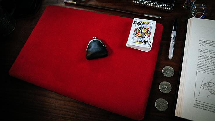 Реквизит для фокусов | Suede Leather Small Pad (Red) by TCC