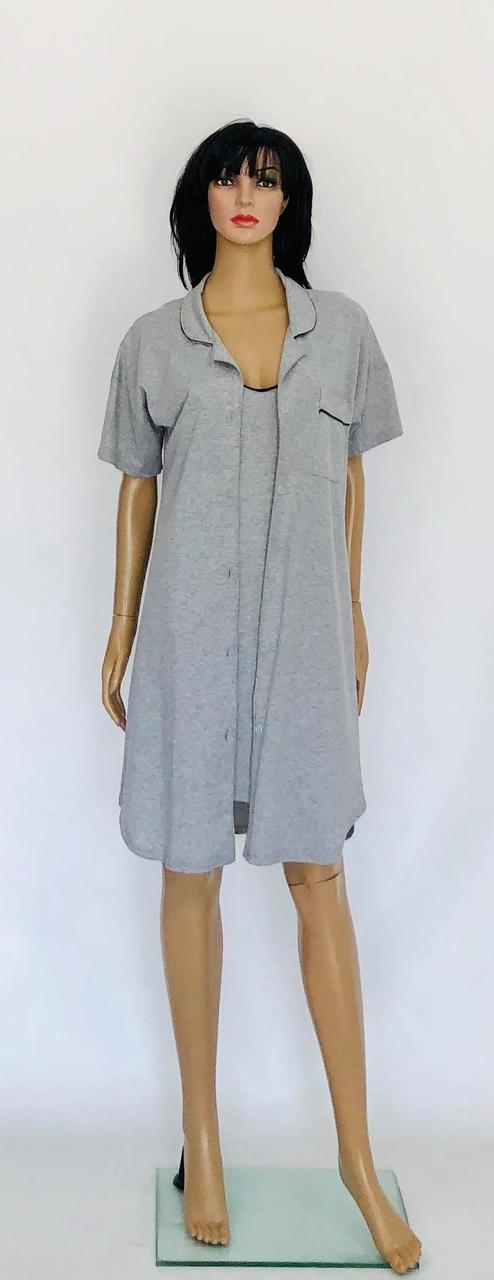Халат рубашка на пуговицах и ночная рубашка
