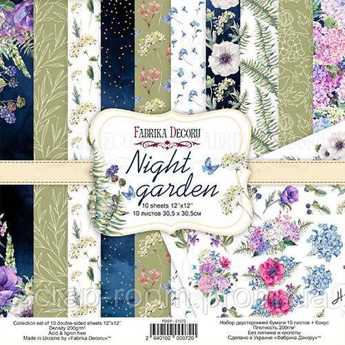 """Набор скрапбумаги """"Night garden"""" 30,5x30,5 см Фабрика Декора"""