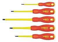 Отвертки 1000 В, набор 5 шт. NEO 04-220