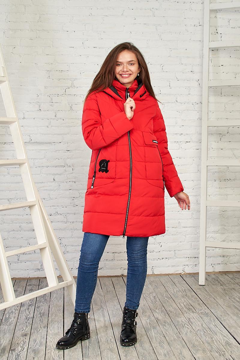 Женская демисезонная куртка красного цвета, 27314 от Black&Red
