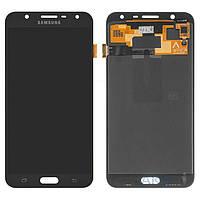 Дисплей (экран) для телефона Samsung Galaxy J7 Neo J701 2017 Dual Sim, J701F (TFT с регулировкой яркости, copy) + Touchscreen Black