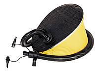 Насос для надувных лодок/матрасов 62005, ножная воздушная помпа, пластик/текстиль, шланг 82 см, переходники