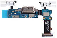 Шлейф Samsung G900H Galaxy S5 с разъемом зарядки, с кнопкой меню (Home), с сенсорными кнопками и микрофоном
