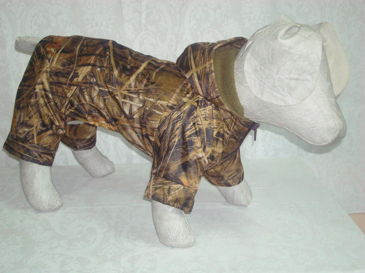 Костюм для собак Камуфляж утепленный флисом