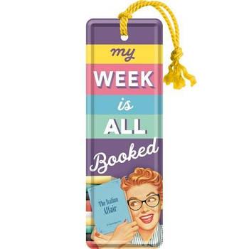 Закладка Nostalgic-Art My Week Is All Booked (45045)