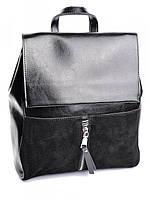 Рюкзак женский кожаный черный B6056 Black