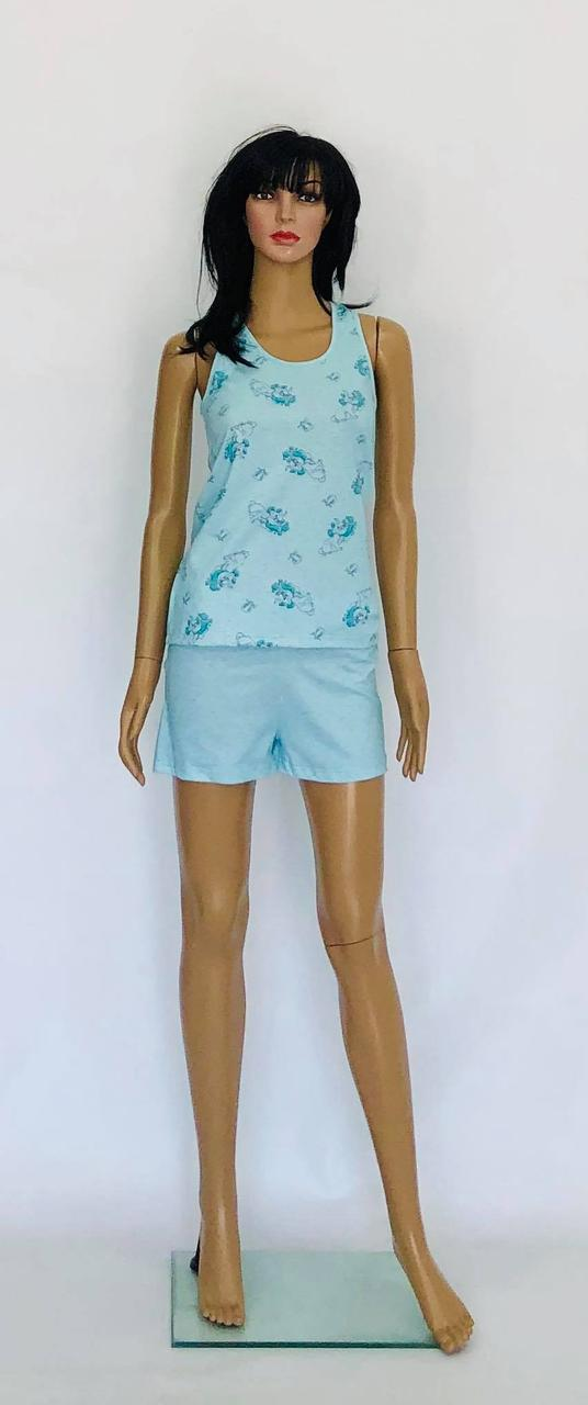 Трикотажный комплект - пижама майка и шорты