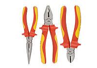 Набор инструментов 3 ед, VDE (кусачки щипцы пассатижи с изолмрованными рукоятками) KING TONY 40603GP