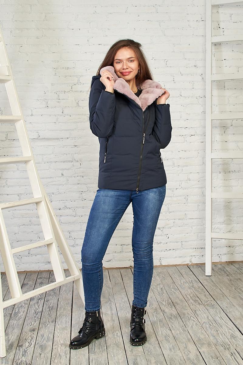 Стильная женская куртка на зиму, 28230 (темно-синий) от Black&Red