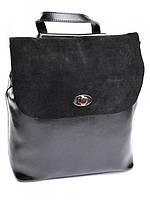 Рюкзак женский кожаный черный B7112 Black