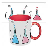 Чашка с принтом 64107 Ты + Я (красная)