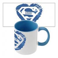 Чашка с принтом 64301 Супер Папа (голубая)