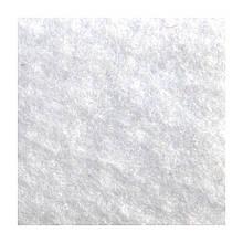Войлок синтетический белый Фетр Состав 100% полиэстер, толщина 3 мм. Ширина рулона 100 см. Италия.