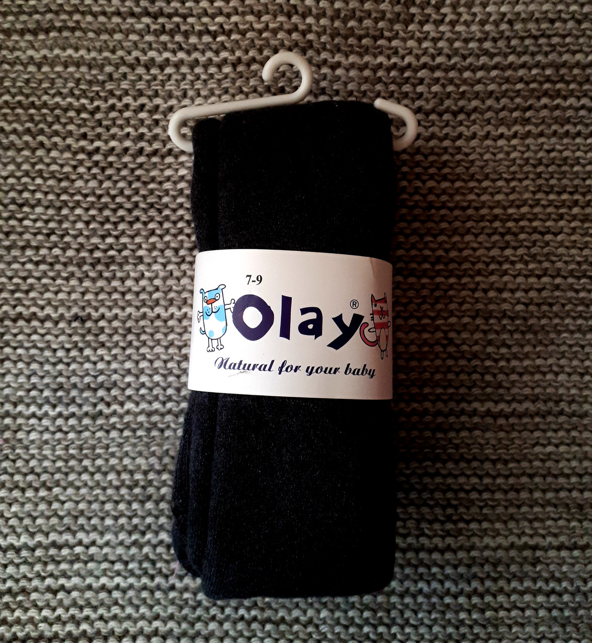 Колготы детские черного цвета теплые с махрой ТМ Olay (Турция)  размер 116 122