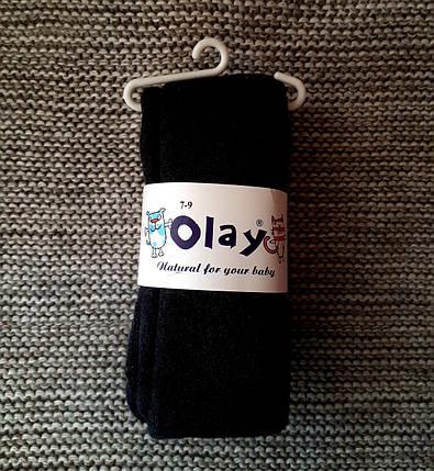 Колготы детские черного цвета теплые с махрой ТМ Olay (Турция)  размер 116 122, фото 2