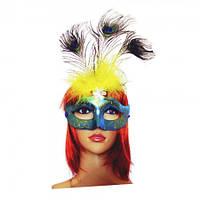 Венецианская маска Дива (голубая)