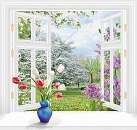 Фотообои За окном весна 140х145 (6 листов)