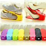 Двойная подставка для обуви регулируемая Shoe Slotz (разные цвета), фото 4