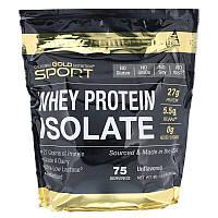 """Изолят сывороточного протеина California GOLD Nutrition, SPORT """" Whey Protein Isolate"""" без вкуса (2270 г)"""