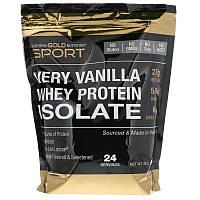 "Изолят сывороточного протеина California GOLD Nutrition, SPORT "" Whey Protein Isolate"" вкус ванили (908 г)"