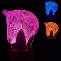 3D Светильник Лошадь