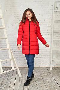 Теплая женская куртка на зиму, 28216 (красный) от Black&Red