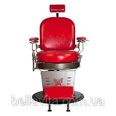 Перукарське чоловіче крісло STAR (червоне), фото 2